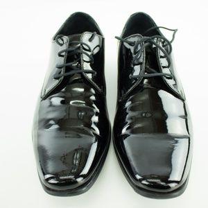 Calvin Klein Brodie Patent Mens Black Dress Shoes